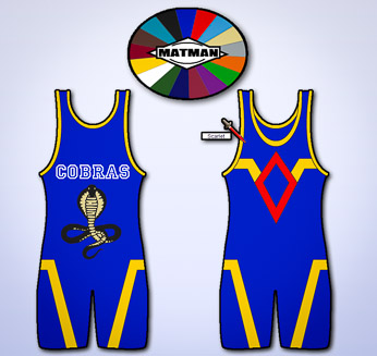 The Matman Wrestling Company's Uniform Builder. Click to design your own uniform.