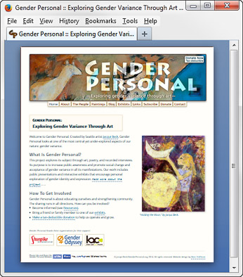 The GenderPersonal.org WordPress site. Click to visit the site.