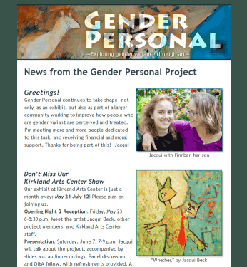 HTML Newsletter for GenderPersonal.org